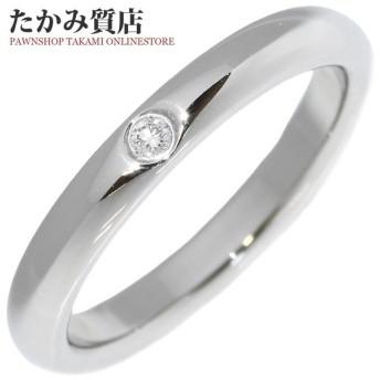 ティファニー 指輪 リング Pt950 ダイヤ1P 0.02ct エルサ・ペレッティ スタッキングバンドリング 9号