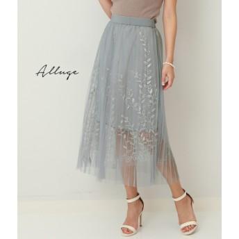 【セール開催中】ANAP(アナップ)リーフ刺繍デザインチュールスカート