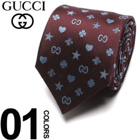 グッチ GUCCI ネクタイ シルク100% シンボルズ モチーフ ロゴ RED ブランド タイ シルク GC5458346169 父の日 ギフト プレゼント
