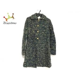 シビラ Sybilla コート サイズ40 XL レディース 美品 グリーン×ブルー×マルチ 冬物 新着 20190625