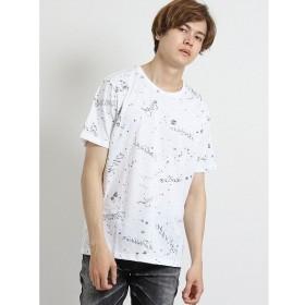 [マルイ]【セール】スラブ天竺総柄裏使いクルーネック半袖Tシャツ/セマンティックデザイン(semantic design)