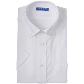 メンズ PERSONS PREP 形態安定ボタンダウンドレスシャツ(ゆったりシルエット)