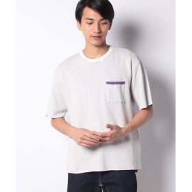 LiFESiZE ビックシルエット ダブルフェイス ポケTシャツ メンズ ホワイト XL 【LiFESiZE】