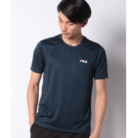 マルカワ フィラ ワンポイントUV半袖Tシャツ メンズ ネイビー L 【MARUKAWA】