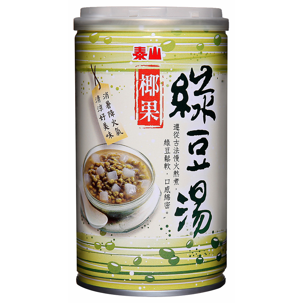 泰山 椰果綠豆湯 (330g*24入/箱)