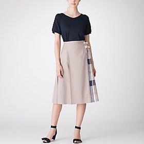 【ブルーレーベル・クレストブリッジ 】クレストブリッジチェックドライウェザーキルトスカート