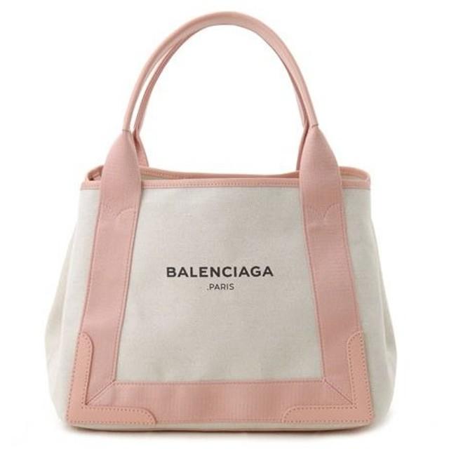 バレンシアガ トートバッグ 339933 AQ38N 5781 BALENCIAGA NAVY CABAS S ピンク