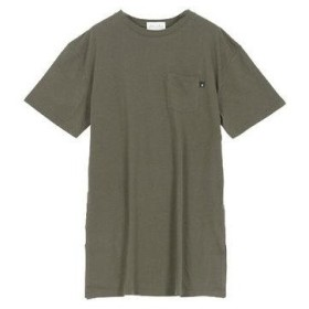 コウベレタス KOBE LETTUCE [近藤千尋]ポケット付きサイドスリットゆるTシャツ [C3855] (カーキ)