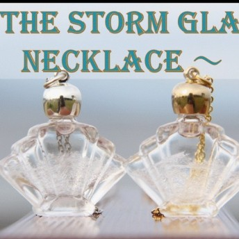 プレゼントに最適!天気がわかるネックレス!ストームグラス ウェザーグラス「王冠」