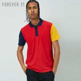 FOREVER21 フォーエバー21 【[MEN]カラーブロックポロシャツ】(5,000円以上購入で送料無料)