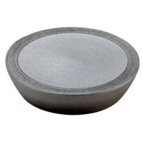 和食器 メ166-116 黒窯変櫛目8.3台皿 【キャンセル/返品不可】