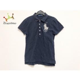 ラルフローレン 半袖ポロシャツ サイズM レディース 美品 ビッグポニー ネイビー ビーズ 新着 20190625
