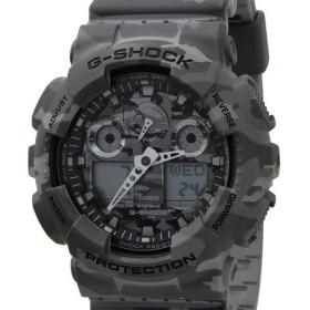 カシオ G-SHOCK Gショック CASIO GA-100CM-8ADR カモフラージュシリーズ グレー 腕時計 ブランド