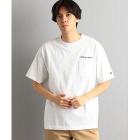 (green label relaxing/グリーンレーベルリラクシング)別注 [チャンピオン]SC Champion LOGO ポケット Tシャツ/メンズ WHITE