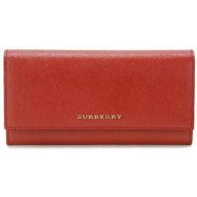 バーバリー BURBERRY 二つ折り長財布 3930472 カーフレザー CORAL RED コーラルレッド レディース 財布