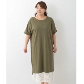 [マルイ] 【大きいサイズ】デザインインナー付きTシャツワンピース/エウルキューブ(eur3)