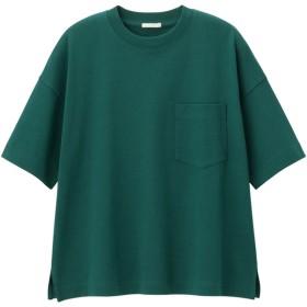 (GU)ヘビーウェイトT(5分袖) DARK GREEN XS
