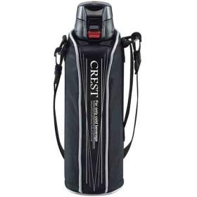 タフコ:ワンタッチスポーツボトル クレスト 1L ブラック F-2671