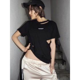 (GYDA/ジェイダ)GYCODE Tシャツ/レディース ブラック