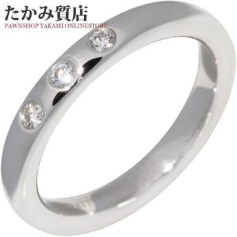 ティファニー 指輪 リング Pt950 ダイヤ3P 0.06ct エルサ・ペレッティ スタッキングバンドリング 7号