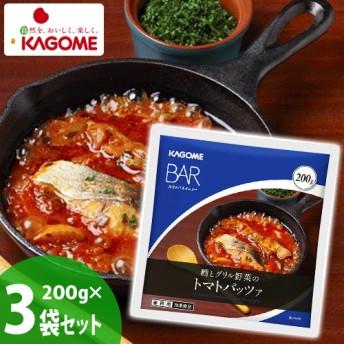 カゴメBAR 鱈とグリル野菜のトマトパッツァ200gx3
