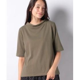 (MELROSE Claire/メルローズ クレール)ロールネックTシャツ/レディース カーキ
