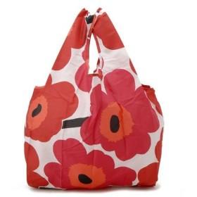 マリメッコ Marimekko エコバッグ ウニッコ ホワイト/レッド 40470 001 折りたたみバッグ スマートバッグ ブランド