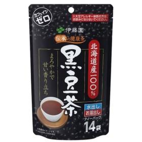 伊藤園 スポーツドリンク 伝承の健康茶 北海道産100% 黒豆茶 ティーバッグ 14袋 163283
