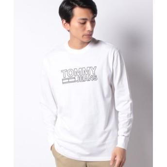 (TOMMY HILFIGER/トミーヒルフィガー)ロングスリーブロゴTシャツ/メンズ ホワイト 送料無料