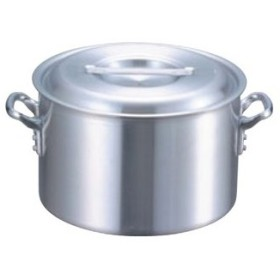 EBM アルミ プロシェフ 電磁 半寸胴鍋(目盛付)21cm【 IH・ガス兼用鍋 】