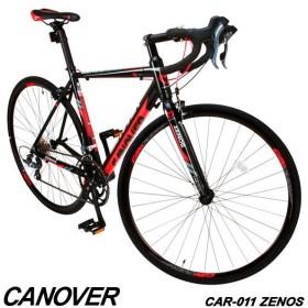 ロードバイク 自転車 700c デュアルコントロールレバー 16段変速 軽量 アルミ ライト付 CANOVER カノーバー CAR-011 ZENOS 組立必要品