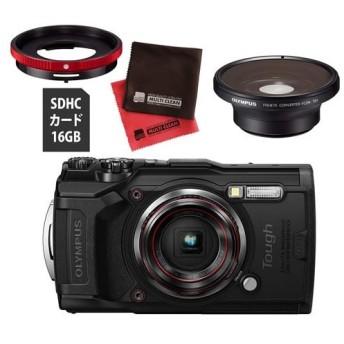 OLYMPUS オリンパス デジタルカメラ Tough TG-6 ブラック (フィッシュアイコンバーター FCON-T01 セット) (メール便不可)