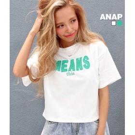 【セール開催中】ANAP(アナップ)刺繍ロゴクロップドTシャツ