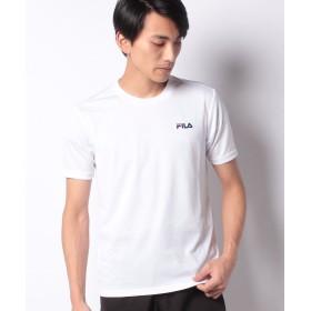 マルカワ フィラ ワンポイントUV半袖Tシャツ メンズ ホワイト L 【MARUKAWA】