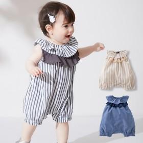 f36549089bd5fc ベビー 服 coto cotte フリル衿ロンパース カバーオール ボディ 赤ちゃん ベビー服 おんなのこ 女の子 ウェア