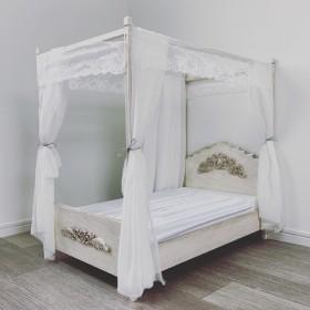 【送料無料】ドール用天蓋ベッド家具バロック調アンティーク塗装済みスーパードルフィー用 ペット用ベッドにも