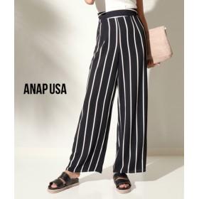【セール開催中】ANAP(アナップ)ストライプワイドパンツ