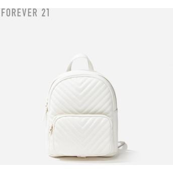 FOREVER21 フォーエバー21 【キルティングフェイクレザーリュック】(5,000円以上購入で送料無料)