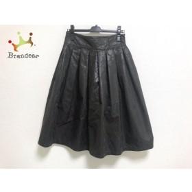 レキップ ヨシエイナバ スカート サイズ40 M レディース 美品 ダークブラウン×黒 新着 20190622