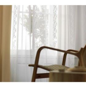 コルネ 既製カーテン カーヴ 幅1000×長さ1330mm ナチュラルホワイト G1046 1枚 (直送品)