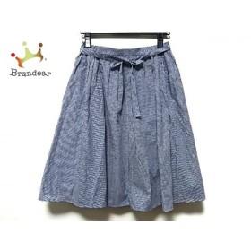 ドレステリア DRESSTERIOR スカート サイズS レディース 美品 ネイビー×白 LE TiROiR de   スペシャル特価 20190929