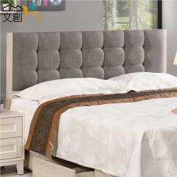 文創集 迪亞 時尚6尺棉麻布雙人加大床頭片(不含床底)