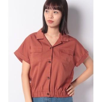 【40%OFF】 レトロガール ツイルWポケシャツ レディース ダークオレンジ M 【RETRO GIRL】 【セール開催中】