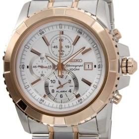 セイコー SEIKO メンズ腕時計 SNAE08J1 アラーム クロノグラフ クオーツ セイコーウオッチ ブランド