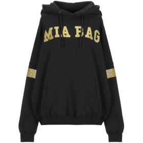 《期間限定 セール開催中》MIA BAG レディース スウェットシャツ ブラック S コットン 100%