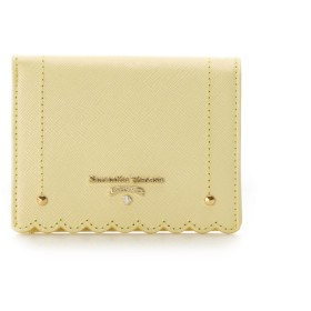 サマンサタバサプチチョイス スカラップシリーズ 折財布 イエロー