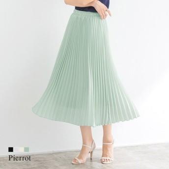 Pierrot ピエロ 2丈から選べる プリーツスカート レディース