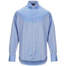 《期間限定セール開催中!》J.W. SAX Milano メンズ シャツ ブルー 40 コットン 100%