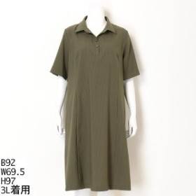 トロワドゥアン(TROIS DEUX UN)/全3色【大きいサイズ】【3L~5L】ソロテックスシャツワンピース