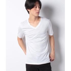 アンレアール 80/2 ガス焼ギザ天竺V/N T メンズ ホワイト 46 【ANRE-R】
